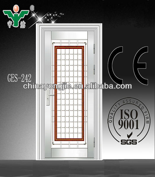 Stainless steel grill door design stainless steel plate for Nameplate for home main door