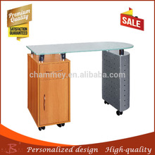 long working life chrome legs wooden nail table,chrome legs wooden nail desk with great price
