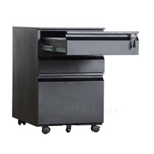 Black drawer cabinet/medical drawers cabinet made in china