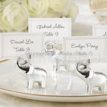 hot selling metal name card clip party and event supplie wedding favor silver elephant alloy place card holder
