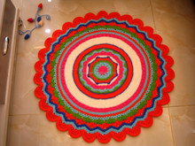 CROCHET PATTERN Rug, Crochet Doily Rug Nursery Mat Carpet Crochet Pattern