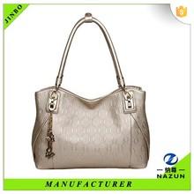 Alibaba shopping pure color tote bag lady circle pattern handbags