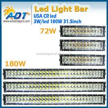 News Auto led light bar 36w 72w 144w 180w 252w 10-32V 3 years warranty IP67 led bar light for CR.EE off road bar led Lights
