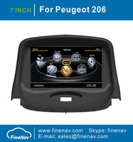 7inch TFT LCD Screen Car Stereo GPS For Peugeot 206 With GPS Navigation A8 Chipset Dual Core 3G Wifi BT Radio Free Map