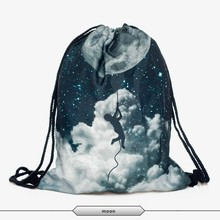 promotional polyester drawstring women leather backpack