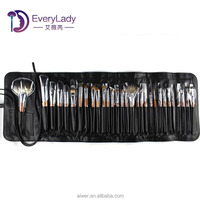 EveryLady 30pcs sable hair cosmetic brush roll