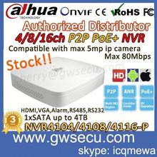 cheap nvr dahua NVR4108-P h.264 1080p realtime 8 Channel Smart 1U 4PoE Network Video Recorder