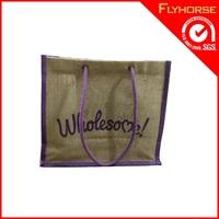 wholesale Reusable Eco tote shopping funny jute bag