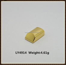 The metel gold plated end cord of zipper for handbag hardware accessories wholesale