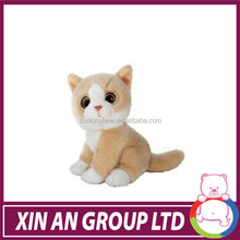 2016 Cut plush yellow cat Toy custom mini stuffed toy cat