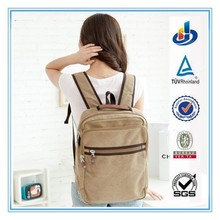 China Manufacturer Canvas School Bag Laptop Travel Backpack Hot Sell