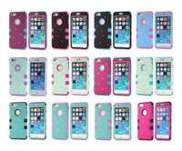 3 in 1 Crystal bling bling robot case for iPhone 6, for Apple iPhone 6 Diamond case
