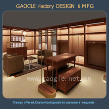 modern design wooden retail shop display furniture for garment shop
