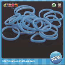 Promotion custom silicone rubber band glow in dark rubber band