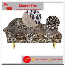 golen supplier animal printed suede fabric for sofa and shoes