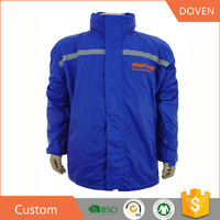 Custom 100% showerproof polyester foldable pocket jacket