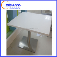 Acrylic solid table top Pure Solid Surface Coffee Table Size 600*600mm Marble Table