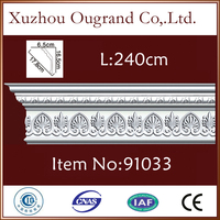 thin crown wood molding for modern home wall art decorations