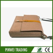 single shoulder bag brown color wool felt laptop bag shoulder bag for laptop