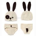 el yapımı bebek tavşan şapka bezi kapak kostüm seti tığ yenidoğan photopraphy sahne tavşan bebek kasketleri