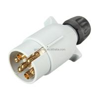 7 Pin 12S Plastic Plug Car Trailer Caravan Gray Grey Electric Plug Socket Towing