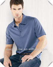 High quality Mens tailor made Short Sleeve Three Button double mercerized cotton Jersey golf Polo shirts