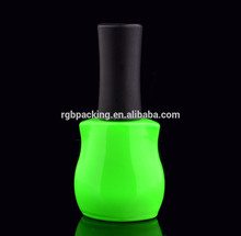 various colors available 14ml empty unique uv /led gel nail polish bottles with mat black cap