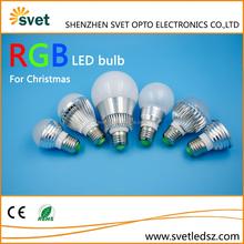 2015 Christmas remote control RGB led bulb