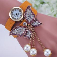 Fashion diamond jewelry bracelet pearl watch