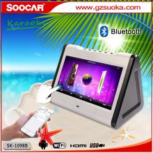 WiFi bluetooth USB SD FM Mic Android KTV karaoke player