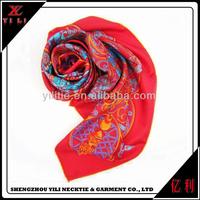 Latest design cheap colored women turkish silk scarf