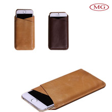 mobile phone bag for iphone 6 plus with italian cowhide leather