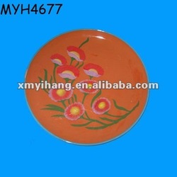 Beautiful handpainting decorative terracotta salad plates