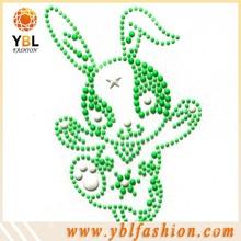 rabbit neon studs rhinestone transfer wholesale for kids clothes