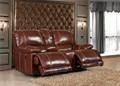 mobilier de salon en cuir inclinables causeuse sf3671 console
