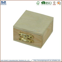 Hot Sale China craft supplies small unfinished wooden boxes wholesale