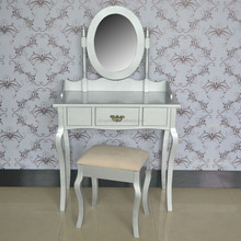 High quality factory price lacquer MDF silver dresseing table