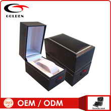Delicate custom black velvet necklace packing box