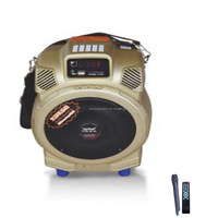 multimedia most functional all-round amplifier bluetooth wireless microphone portable speaker with usb,sd,fm radio