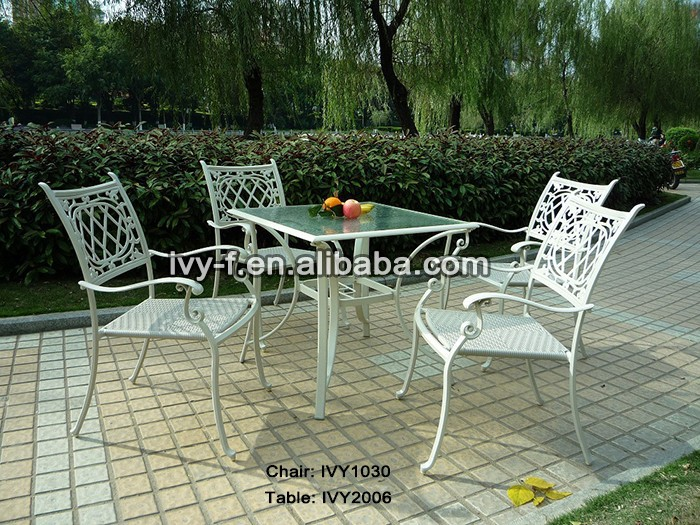 Outdoor Dining Set Sturdy Metal Garden Furniture Set patio Dining Set cafe Ta