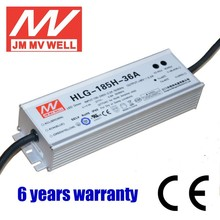 185W 36V waterproof IP67 PWM 1-10v dimmable electronic led driver with 6 years warranty UL
