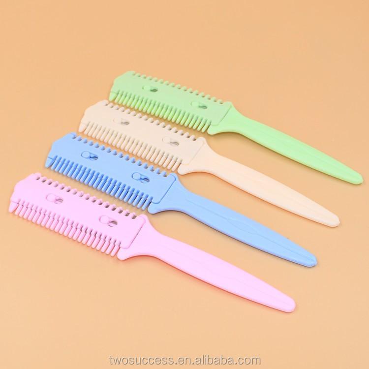 Hair Salon butterfly knife comb, Plastic Hair Combs, Salon Safe Hair Cut Trimmer Razor Comb (2).jpg