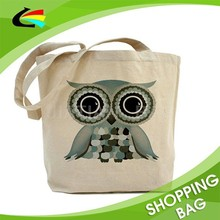 Customized Design 100% Recycled Reusable Eco Shopping Tote Bag Cotton Canvas Tote Bag