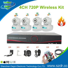4CH Wireless H.264 NVR Kit with 4pcs PTZ Wifi P2P IP ONVIF cameras IP Camera Kit NVR Kit CCTV thanks WIireless Security Systerm