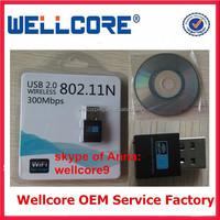Mini USB Wireless 802.11 b/g/n WiFi Adapter Wi-Fi Dongle High Gain 300Mbps 300M USB Wireless Network Card !