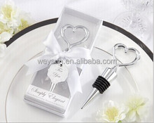 wedding favor gift and giveaways--Simply elegant Heart Love Bottle Stopper party favor souvenir