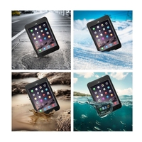 New style hard waterproof plastic carrying case for ipad mini3 waterproof case