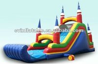 2012 New design castle inflatable water slide for kids and adult on sale