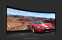 16:9 Curved Fixed Frame Projector Screen / Curved Projection Screen For Home Theater