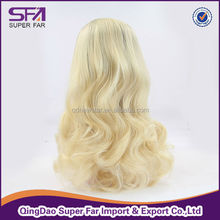 wholesale beautiful blonde synthetic hair glueless full lace wigs